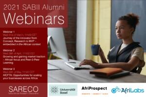 Flyer for the SABII Alumni Webinars Series 2021